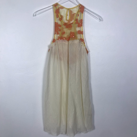 Free People Dresses & Skirts - Free people sheer floral bodice with gauze fabric